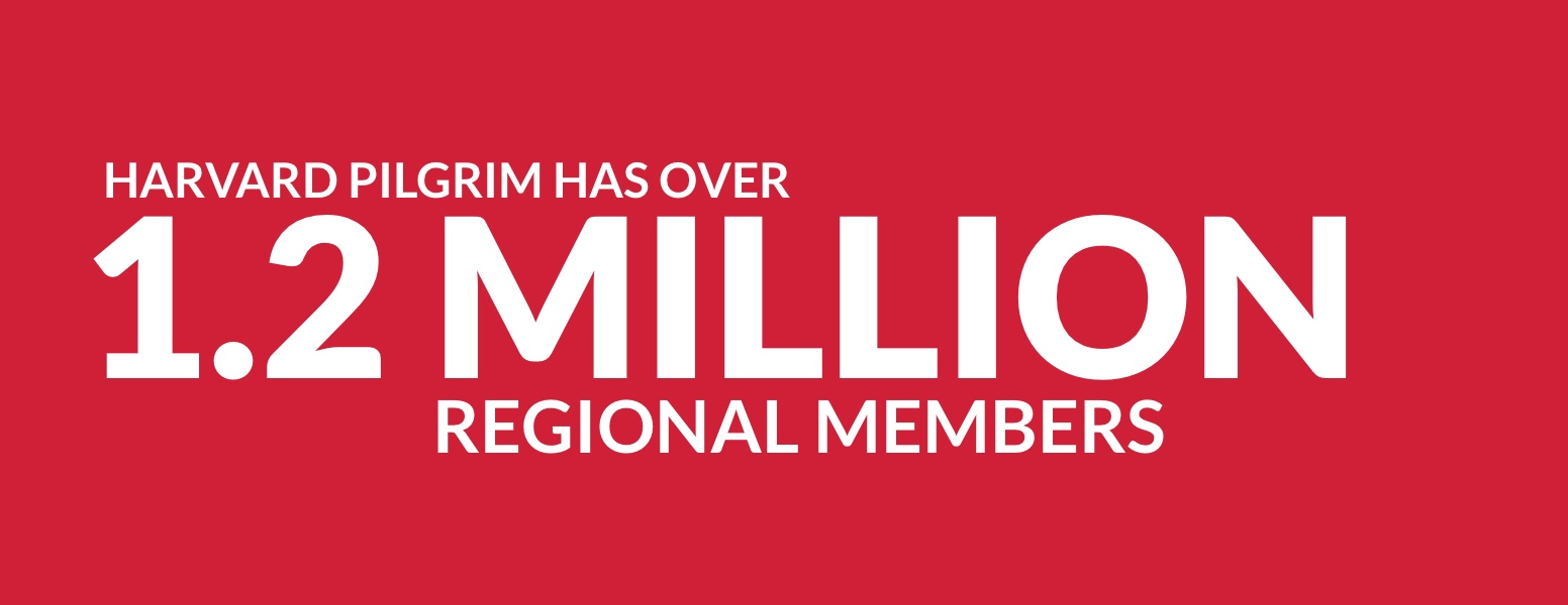 Harvard Pilgrim has over 1.2 million regional members