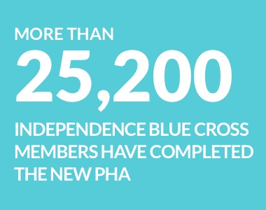 More than 25,200 Independence Blue Cross members have completed this new PHA