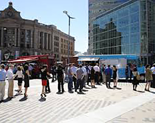 Dewey Square Food Trucks Boston